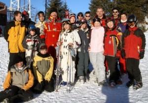 Die Skilagerteilnehmer 2005 am Kasberg